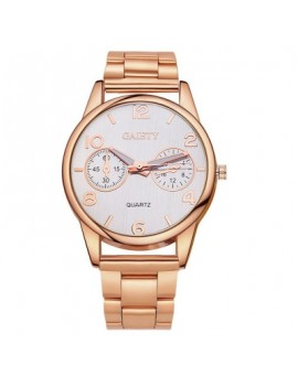 GAIETY G110 Women New Luxury Gold Silver Fashion Stainless Steel Watch