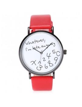 Fashion Men Leather Band Quartz Watch
