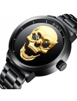 GIMTO Brand NEW Creative Men Watch Luxury Black Steel Quartz Clock Male Boy Military Wrist Watches