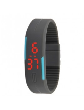 Silicone Rubber Gel Jelly Unisex LED Wrist Watch Bracelet
