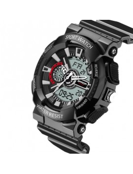 Sanda Men Military Sports Fashion Waterproof Big Dial LED Watch